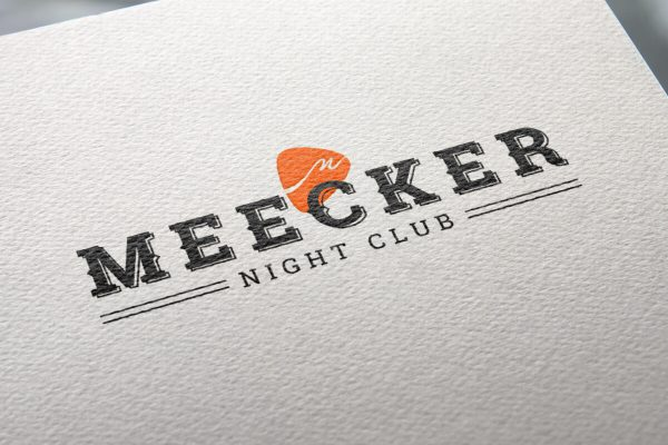 Meecker Logo On Paper